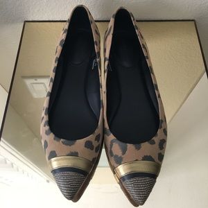 Rebecca Taylor pointy leopard flats